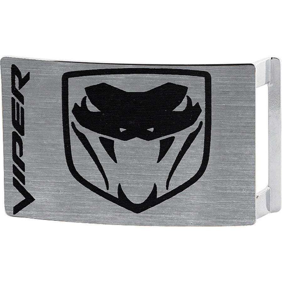 Dodge Viper Rock Star Buckle - Brushed Silver Black