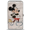 Hinged Wallet - Mickey Mouse Standing Pose Modern + Retro Sketches