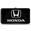 Hinged Wallet - Honda 3-D Logo Black Silver White