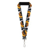 "Lanyard - 1.0"" - Disney Dogs 4-Dog Group Collage Paws Gray Black"