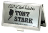 MARVEL AVENGERS Business Card Holder - SMALL - CEO OF STARK INDUSTRIES TONY STARK Brushed Silver Black