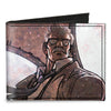 Canvas Bi-Fold Wallet - Commissioner James Gordon CLOSE-UP Lights Pose Grays