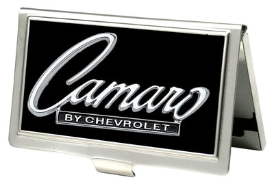 Business Card Holder - SMALL - 1969 CAMARO BY CHEVROLET Emblem FCG Black Silver
