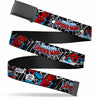 Black Buckle Web Belt - Spider-Man in Action2 w/AMAZING SPIDER-MAN Webbing