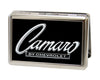 Business Card Holder - LARGE - 1969 CAMARO BY CHEVROLET Emblem FCG Black Silver