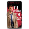 Hinged Wallet - Castiel I'LL INTERROGATE THE CAT Black Blood Splatter White
