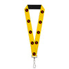 "Lanyard - 1.0"" - Reverse Flash Logo Golden Yellow Black Red"