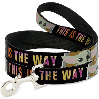 Dog Leash - Star Wars The Child Chibi Pod Pose THIS IS THE WAY Black/Multi Color