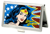 Business Card Holder - SMALL - Wonder Woman Face w Stars FCG