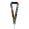"Lanyard - 1.0"" - Wonder Woman Face w Stars"