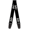Guitar Strap - H2 Black Silver REPEAT Logo