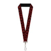 "MARVEL DEADPOOL Lanyard - 1.0"" - Deadpool Splatter Logo Scattered Black Red White"