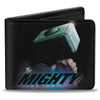 MARVEL AVENGERS Bi-Fold Wallet - Thor's Hamnmer THE MIGHTY Space Dust Black