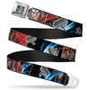 MARVEL AVENGERS Thor's Hammer Full Color Seatbelt Belt - THOR Poses/Hammer Webbing