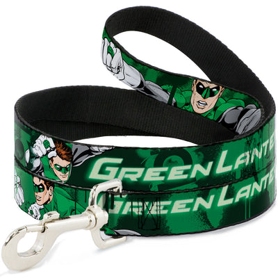 Dog Leash - Green Lantern Green Glow w/Text