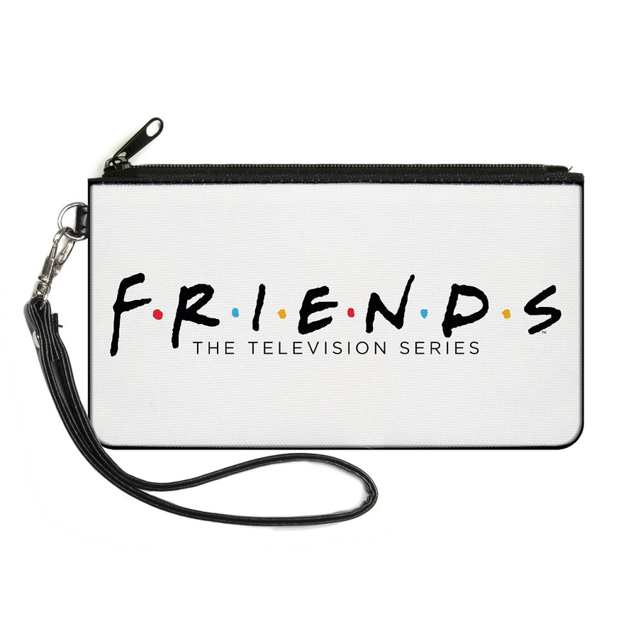 Canvas Zipper Wallet - SMALL - FRIENDS-THE TELEVISION SERIES Logo White Black Multi Color