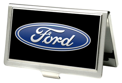 Business Card Holder - SMALL - Ford Oval Logo CENTERED FCG Black