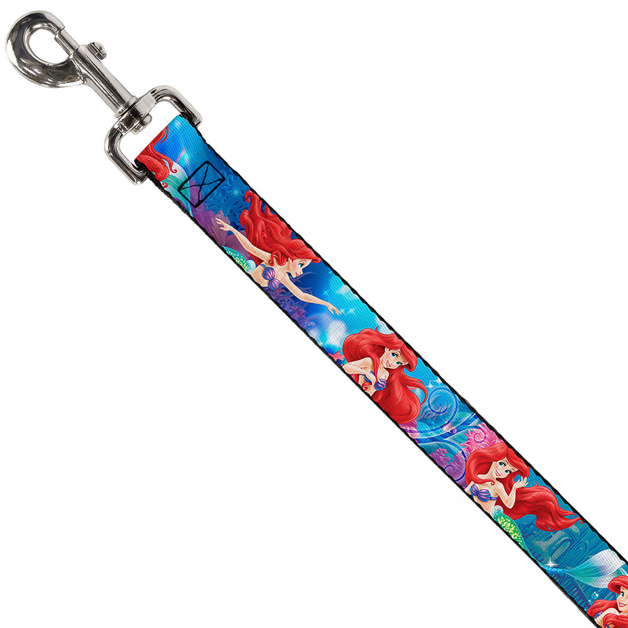Dog Leash - Ariel Vivid Underwater Sparkle Poses/Castle