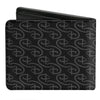 Bi-Fold Wallet - Disney Signature D Logo Monogram Black Gray