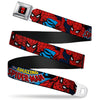 MARVEL UNIVERSE Spider-Man Full Color Seatbelt Belt - Amazing Spider-Man Webbing