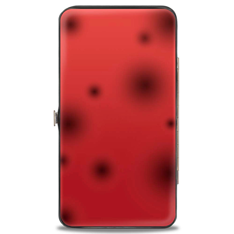 Hinged Wallet - Cruella de Vil Spotted Fur Pose + Spots Red Black