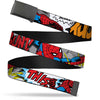 Black Buckle Web Belt - Spider-Man w/Action Verbiage Webbing