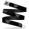 Corvette Seatbelt Belt - Corvette Black/Silver REPEAT Webbing