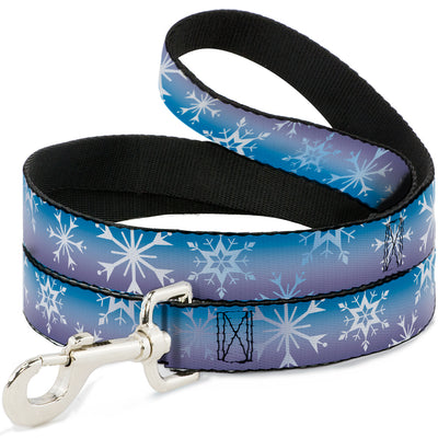 Dog Leash - Frozen II Snowflakes Blues/Purples/White