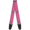 Guitar Strap - Ford Mustang w Bars w Text PINK LOGO REPEAT