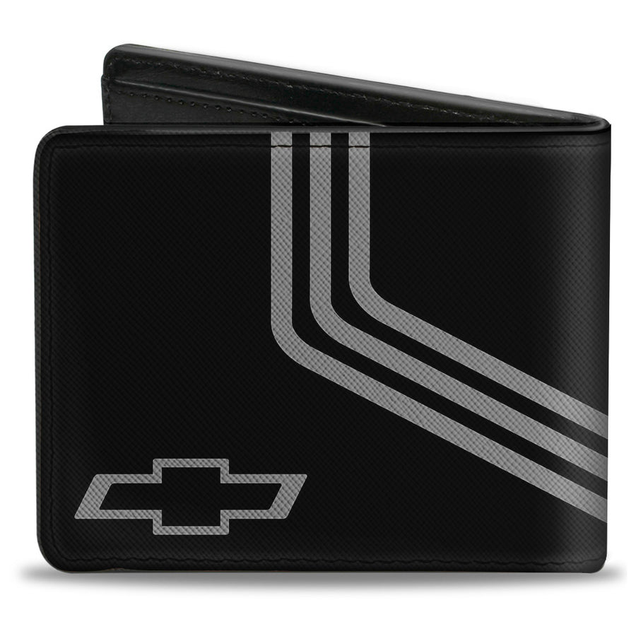 Bi-Fold Wallet - CHEVROLET Bowtie 3-Stripe Black Charcoal
