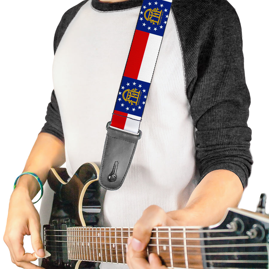 Guitar Strap - Georgia Flag