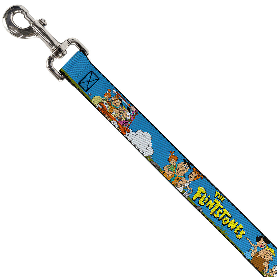 Dog Leash - The Flintstones and Rubbles Group Pose/Logo Blue