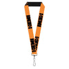 "Lanyard - 1.0"" - HEMI 426 Logo Repeat Orange Black"