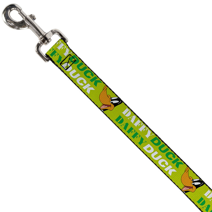 Dog Leash - DAFFY DUCK w/Face CLOSE-UP Greens