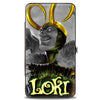 MARVEL AVENGERS Hinged Wallet - Siege LOKI #1 Cover Pose Grays Greens Yellows