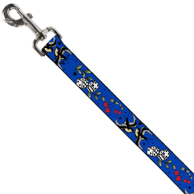 Dog Leash - Lucky CLOSE-UP Blue
