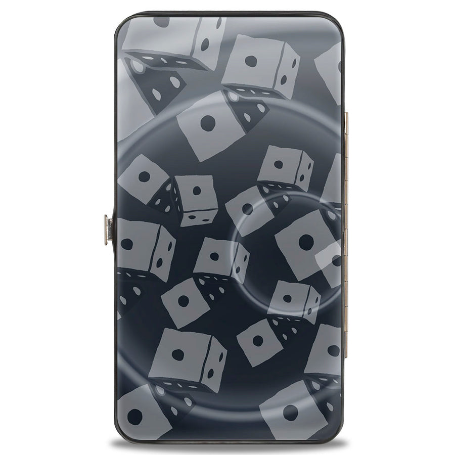 Hinged Wallet - Oogie Boogie Rolling Dice Pose + Scattered Dice Grays