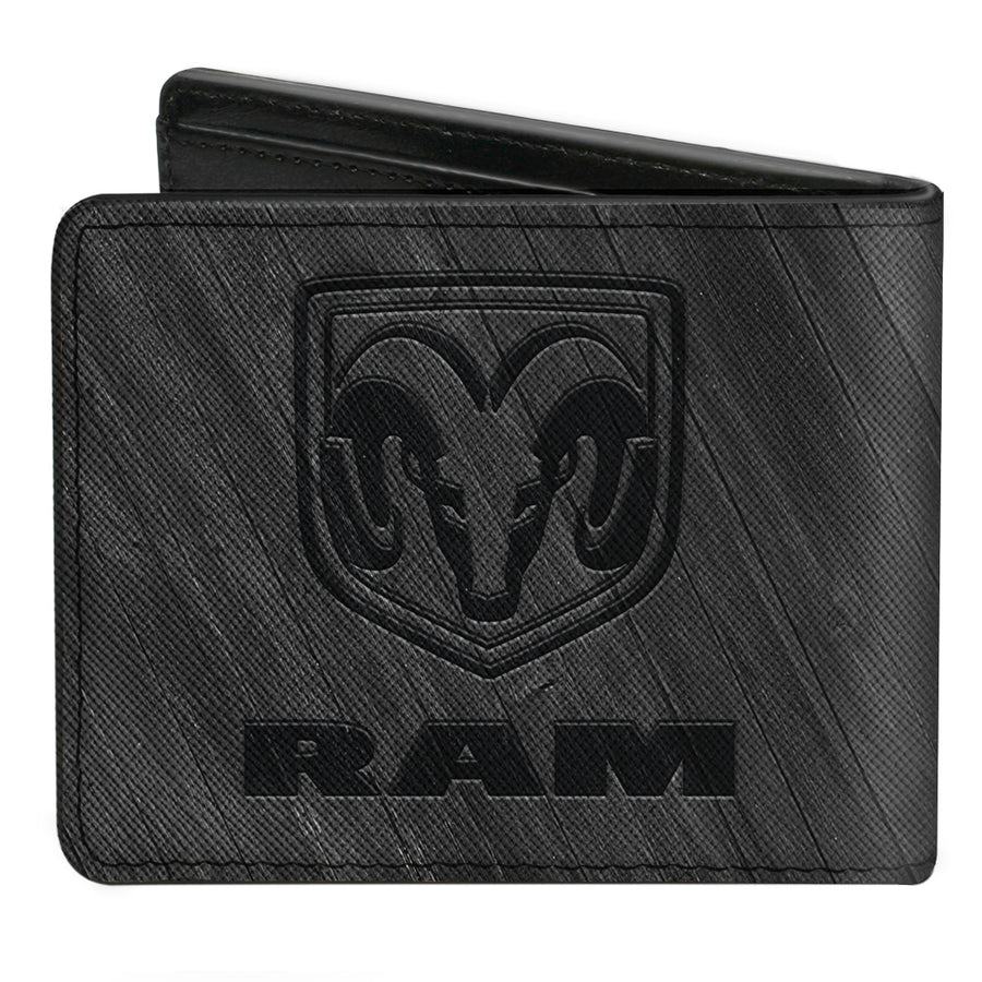 Bi-Fold Wallet - RAM Logo Wood Grain Grays