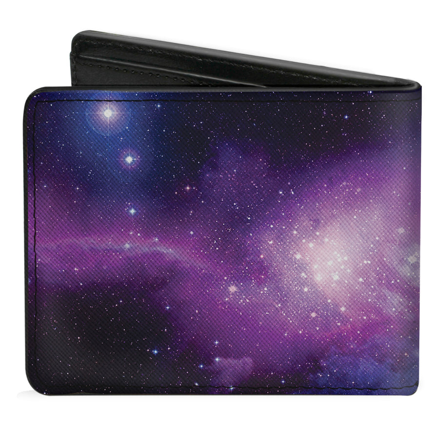 Bi-Fold Wallet - Galaxy Purple Pinks