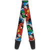 Guitar Strap - Justice League Superheroes CLOSE-UP New