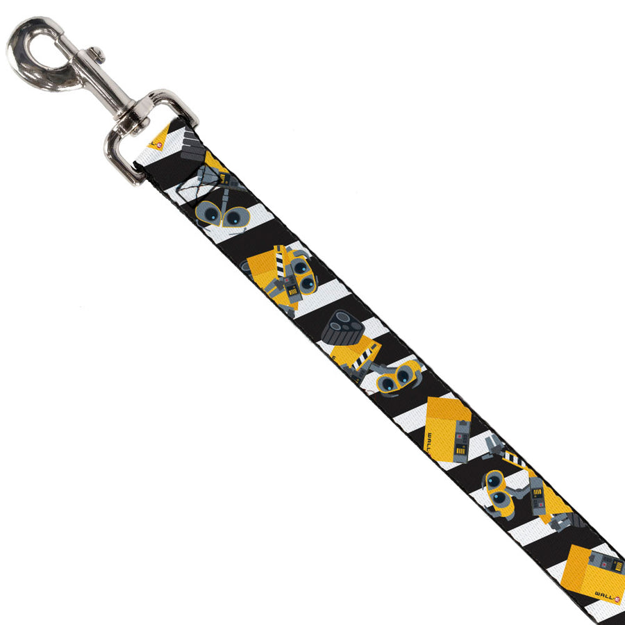 Dog Leash - Wall-E Poses/Stripe Black/White