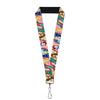 "Lanyard - 1.0"" - Disney Princess Poses Castle Blocks"
