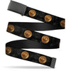 Black Buckle Web Belt - MACUSA Seal2 Black/Grays/Golds Webbing