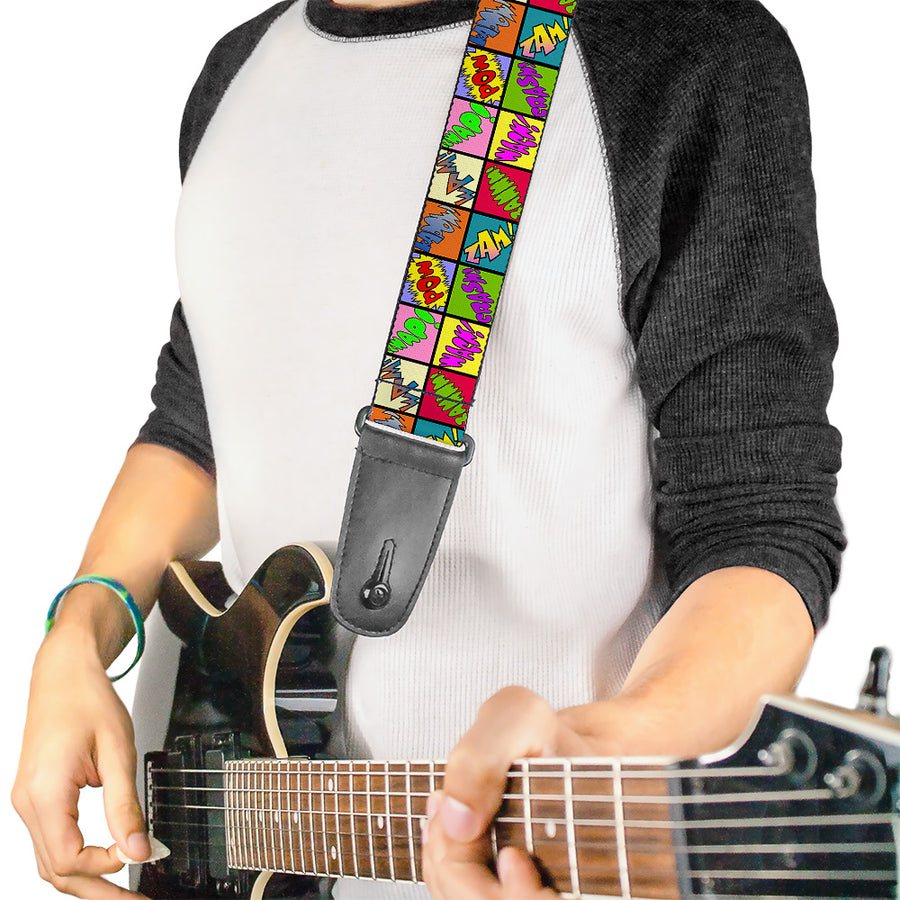 Guitar Strap - Sound Effect Checkers Multi Color