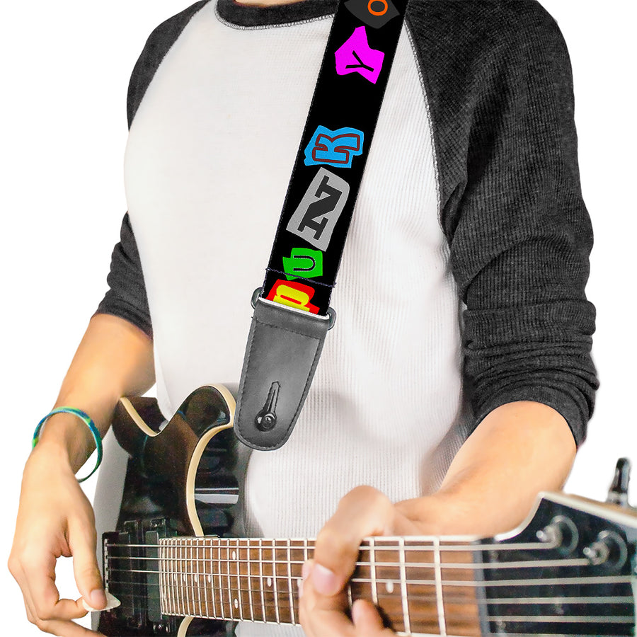 Guitar Strap - Punk You Black Full Color