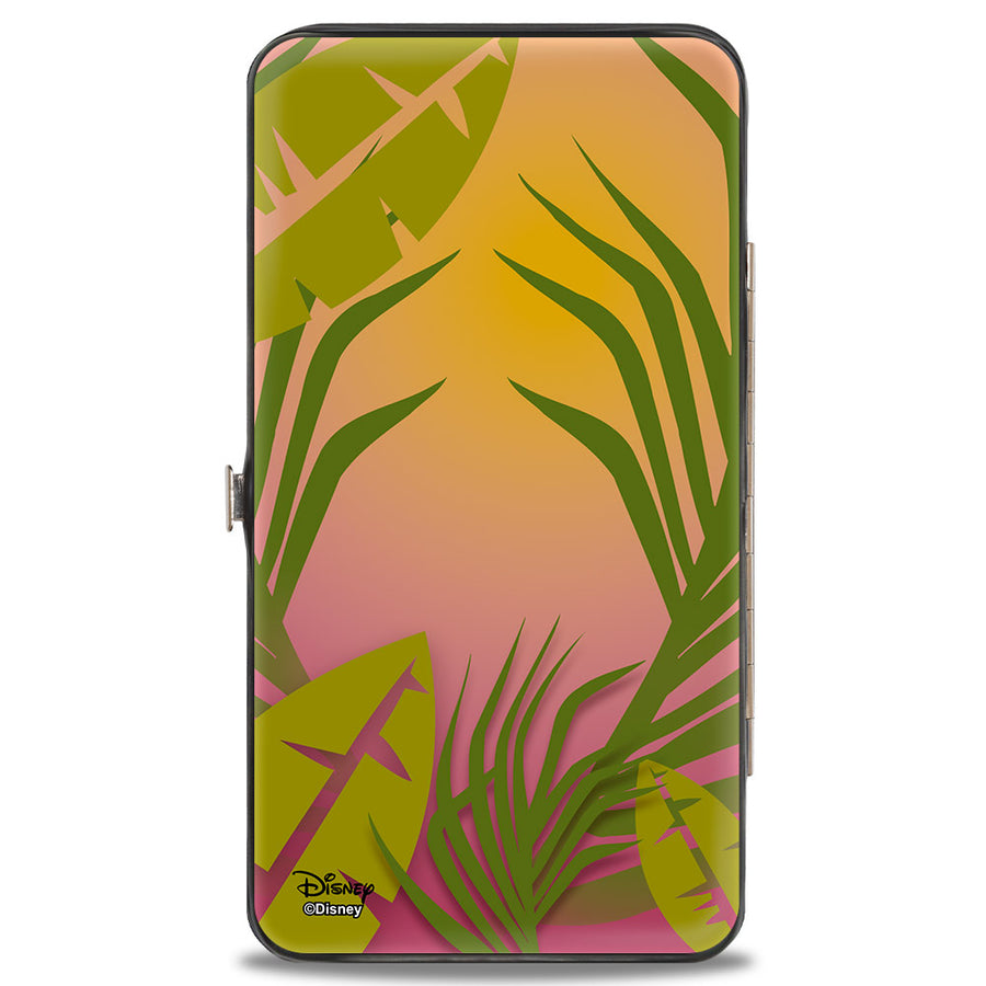 Hinged Wallet - TIMON Hula Dance Face Leaves Orange Pink-Fade