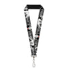 "Lanyard - 1.0"" - Lion King Scar Poses White Black"