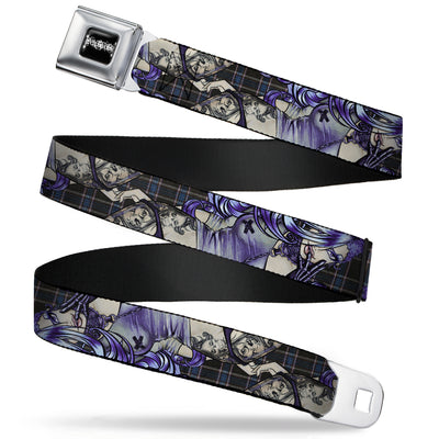 SEXY INK GIRLS Full Color Black White Seatbelt Belt - Sweet Lovely Death Webbing