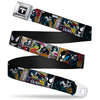 MARVEL UNIVERSE Venom Spider Logo Full Color Black White Seatbelt Belt - Venom Comic Book Panels Webbing