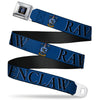 Ravenclaw Crest Full Color Seatbelt Belt - Harry Potter RAVENCLAW & Crest Blue/Black Webbing